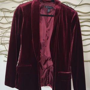 INC red velvet blazer